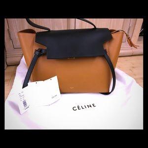 Celine Bicolor Belt Bag Leather Medium
